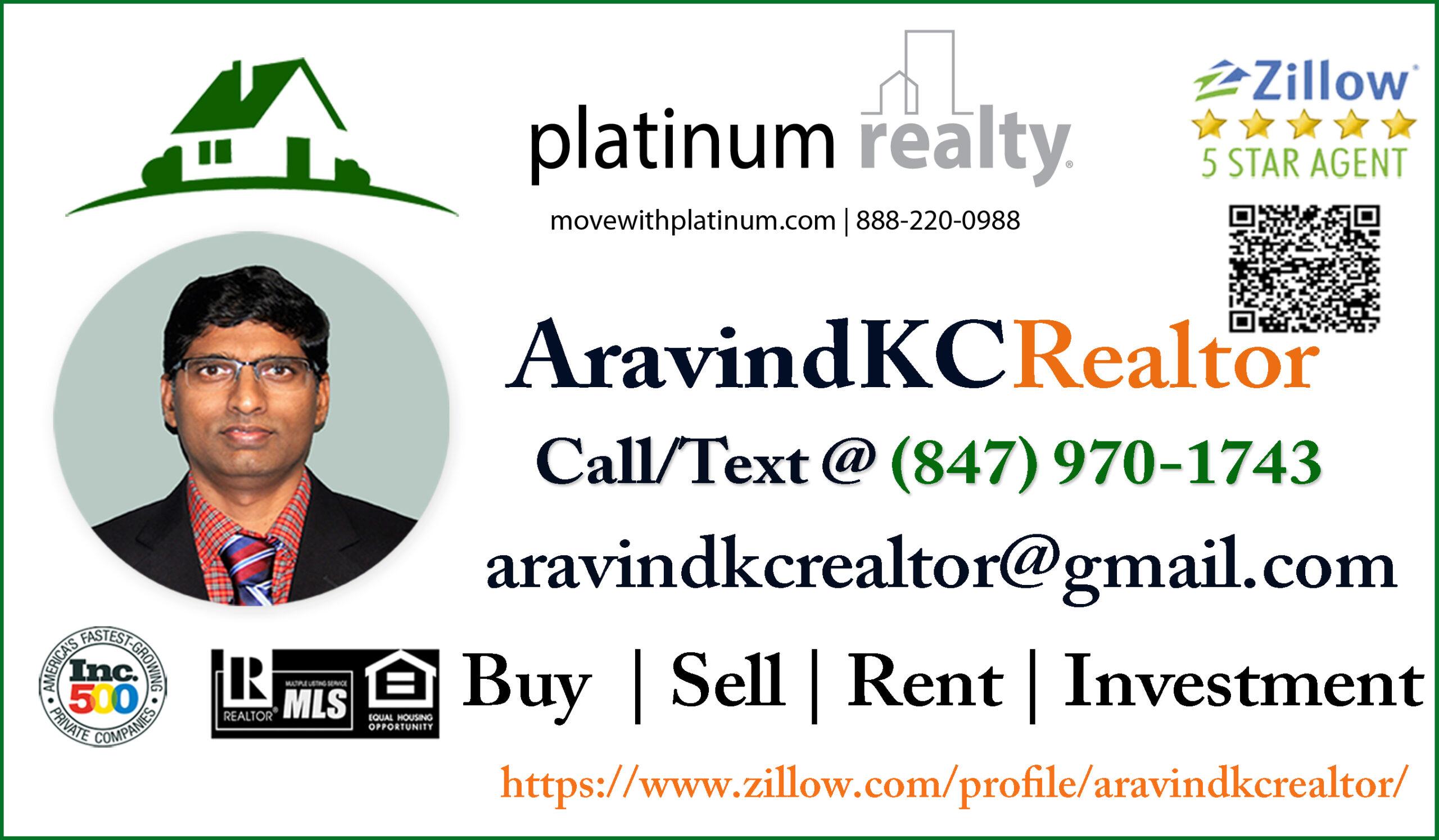 Latest Aravind KC Realtor AD - TAGKC Website